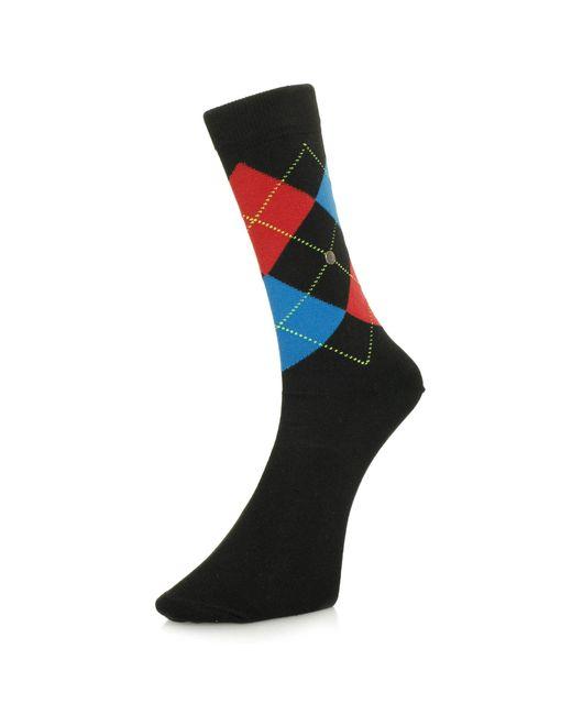 Burlington - Burlington King Argyle Black Socks 21020 3008 for Men - Lyst