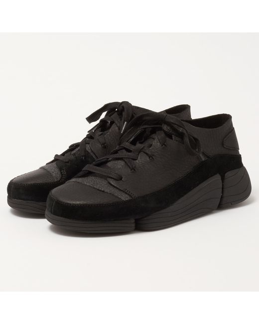 Clarks - Trigenic Evo Trainers In Black Leather for Men - Lyst