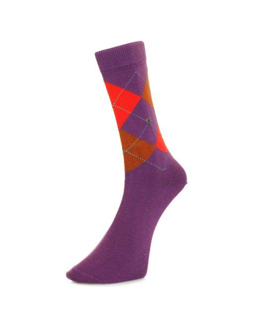 Burlington - Burlington King Purple Argle Socks 21020 6862 for Men - Lyst