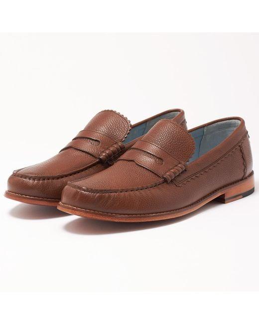 GRENSON - Ashley Dark Brown Loafer Shoe 111061 for Men - Lyst
