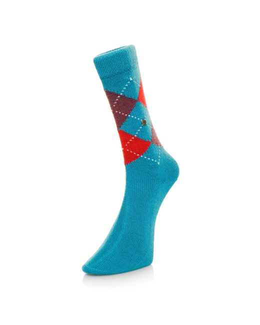 Burlington Socks | Burlington Preston Argyle Sea Blue Socks 24284730S for Men | Lyst