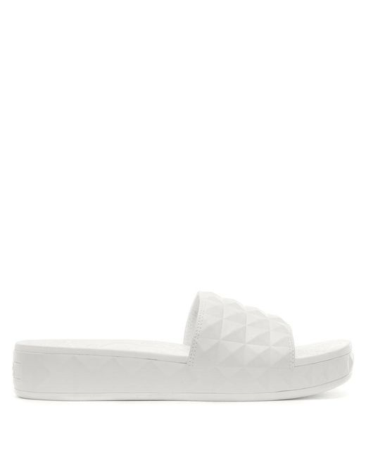 Ash - Spl White Studded Chunky Sliders - Lyst