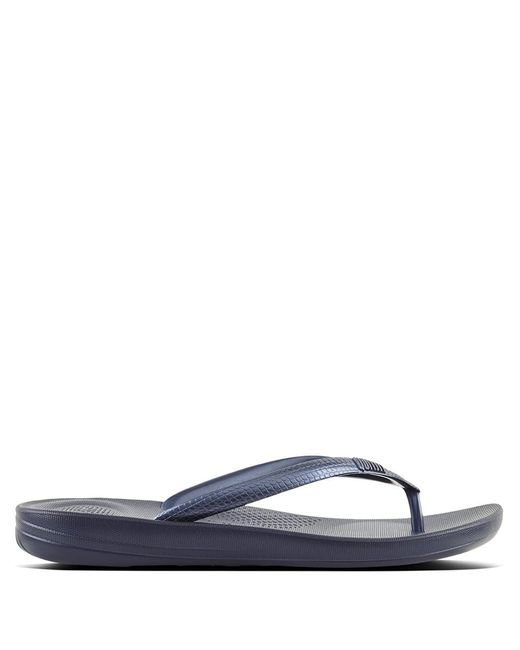 63bbb91c71ee68 Fitflop - Blue Iqushion Midnight Navy Toe Post Flip Flop - Lyst ...