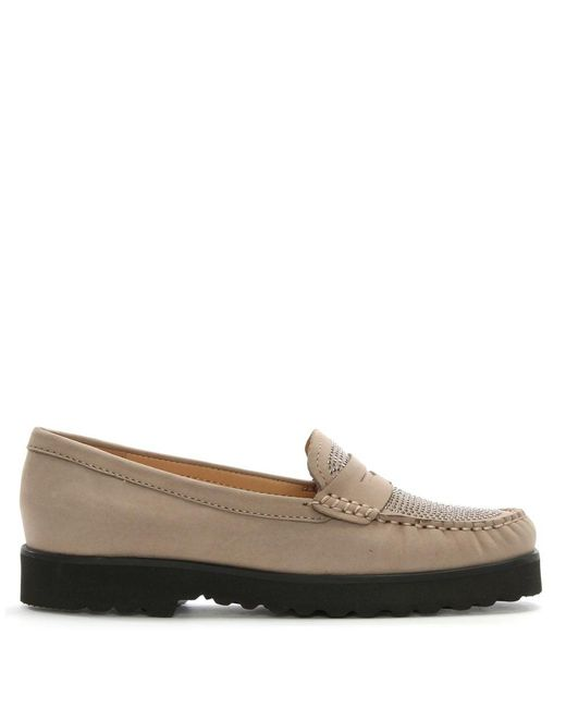 Daniel | Brown Goby Taupe Suede Diamante Embellished Loafers | Lyst