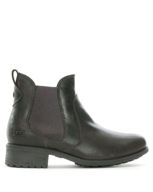 Ugg | Gray Bonham Grey Leather Chelsea Boots | Lyst