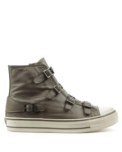 Ash - Gray Virgin Bis Perkish Leather Womens Trainer - Lyst