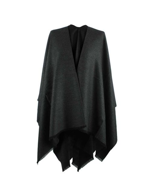 Daniel | Gray Luxe Grey Wool & Silk Mix Cape | Lyst