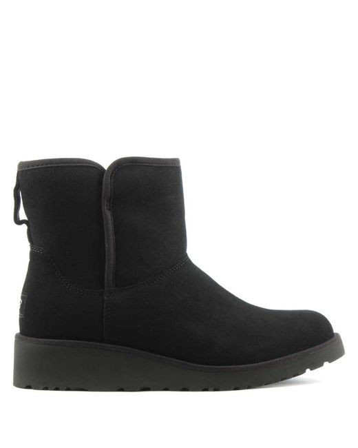 Ugg - Kristin Black Suede Twinface Boot - Lyst ...