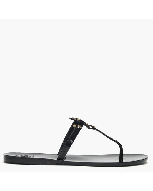 f9bf21106839f Lyst - Tory Burch Mini Miller Jelly Flat Thong Sandals in Black ...