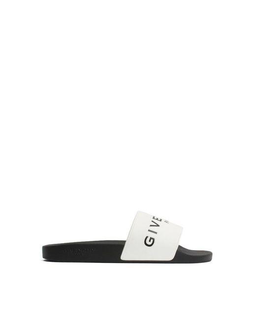 Givenchy | Black Sandali Logo for Men | Lyst