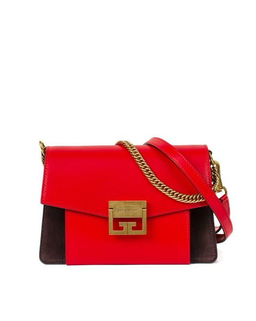 c3c214a5a4 Givenchy Small Gv3 Leather Shoulder Bag in Red - Save 38% - Lyst