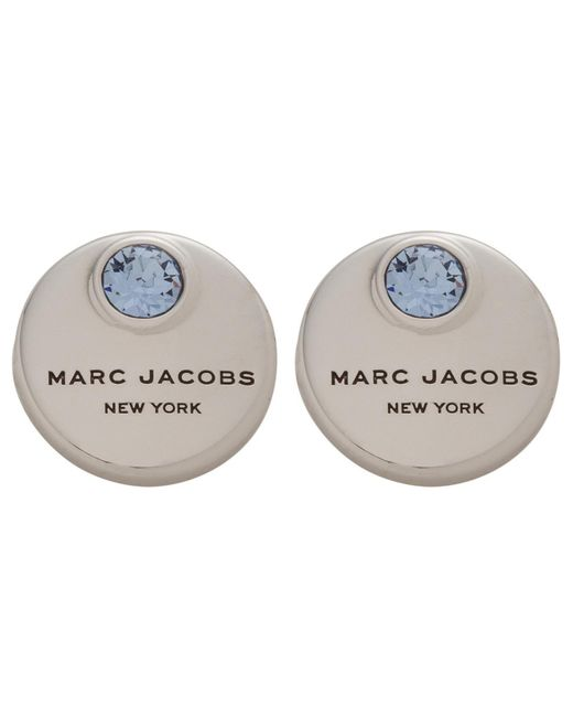 Marc By Marc Jacobs   Metallic Mj Coin Studs   Lyst