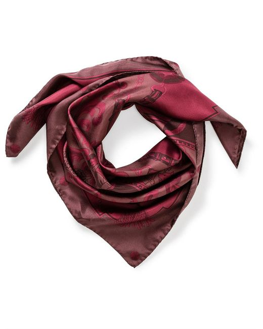 Aspinal - Red Colour Blocked Signature Scarf - Lyst