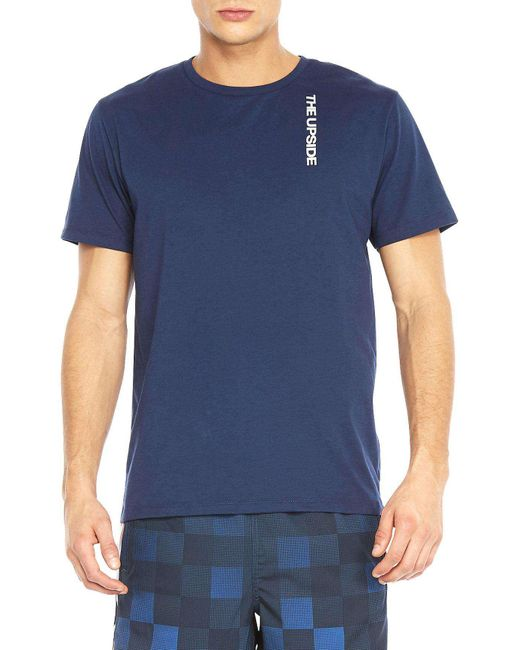 The Upside | Blue Back Line Tee for Men | Lyst