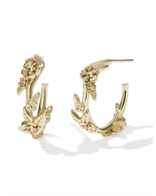 Meadowlark - Metallic Small Alba Hoop Earrings - Lyst