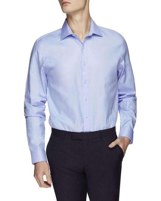 Ben Sherman | Blue Ls Sateen Twill Kings Shirt for Men | Lyst