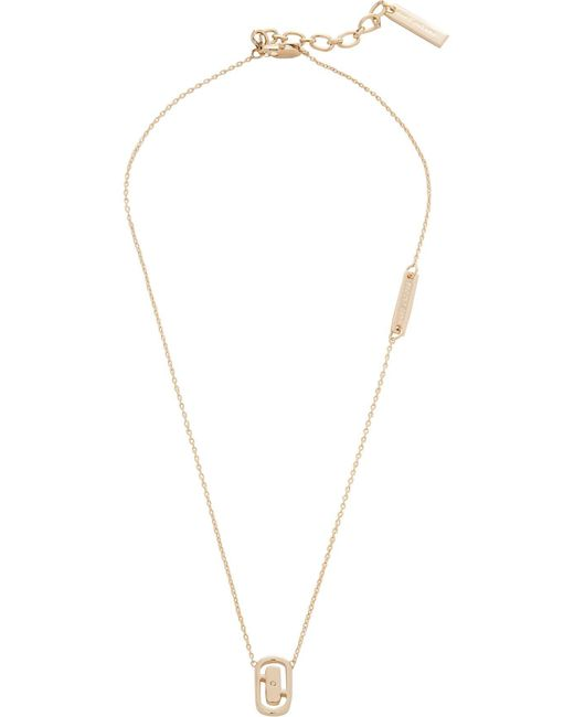 Marc By Marc Jacobs | Metallic Icon Cut Out Short Pendant | Lyst