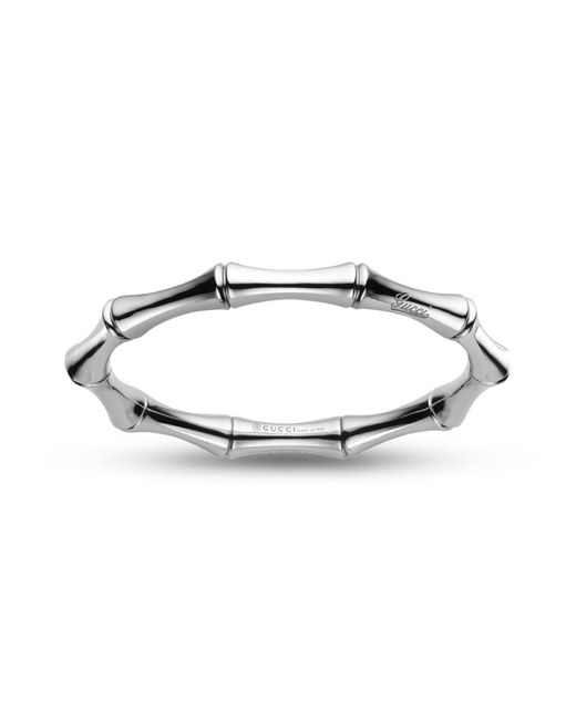 Gucci - Metallic Bamboo Collection Bracelet - Lyst
