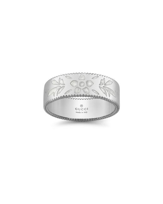 Gucci | White Icon Blooms Collection Ring | Lyst
