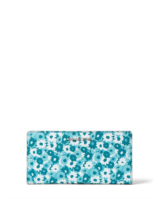 Michael Kors - Blue Jet Set Carnation Slim Wallet - Lyst