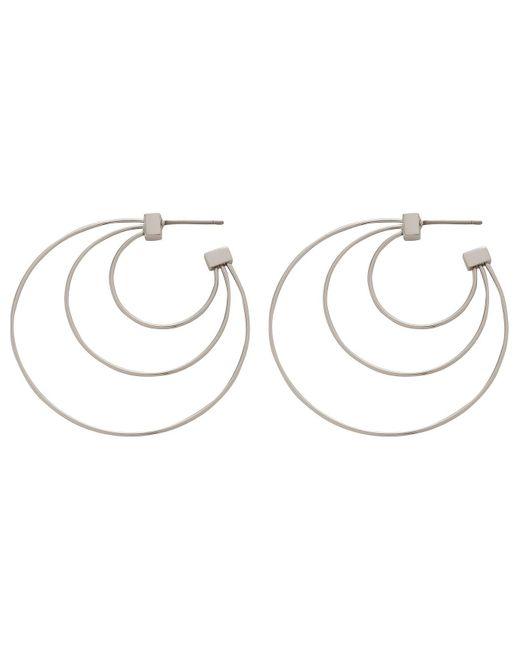 Rebecca Minkoff | Metallic Statement Triple Hoop (sm Size) Earrings | Lyst