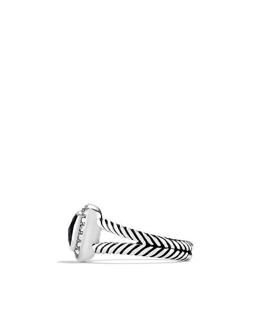 David Yurman - Petite Albion® Ring With Black Onyx And Diamonds - Lyst