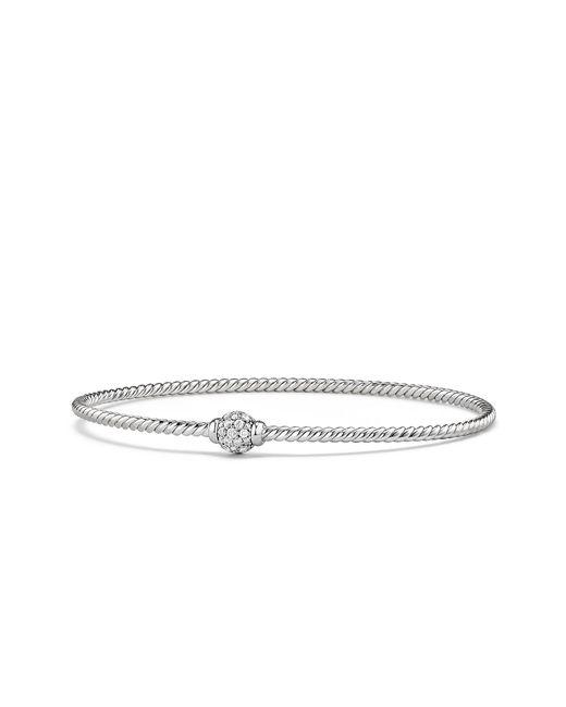 David Yurman - Metallic Petite Solari Station Pave Bracelet With Diamonds In 18k White Gold - Lyst