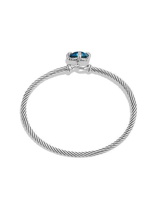 David Yurman - Metallic Châtelaine® Bracelet With Hampton Blue Topaz And Diamonds, 9mm - Lyst