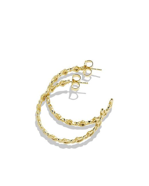 David Yurman | Metallic Venetian Quatrefoil Hoop Earrings With Diamonds In 18k Gold | Lyst