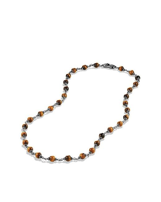 David Yurman | Metallic Spiritual Rosary Bead Necklace In Tiger Eye for Men | Lyst