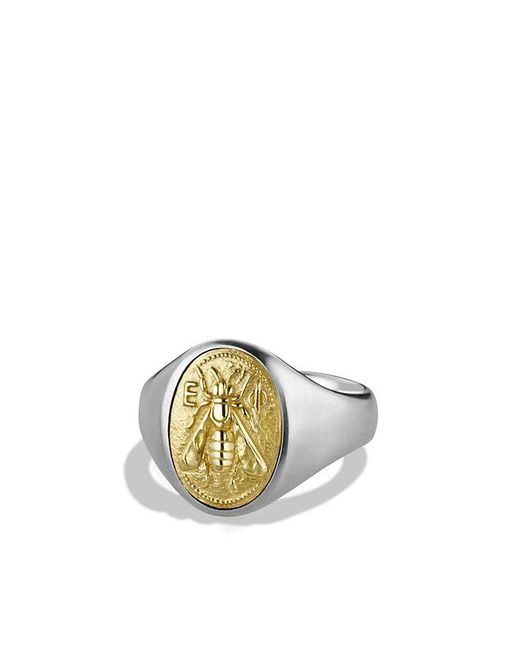 David Yurman - Metallic Petrvs Bee Signet Ring With 18k Gold for Men - Lyst