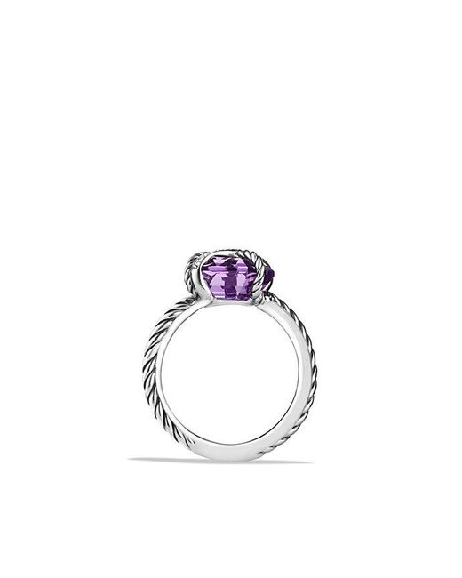 David Yurman - Metallic Cable Wrap Ring With Amethyst And Diamonds - Lyst