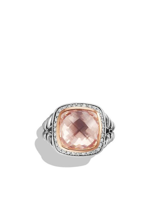 David Yurman | Pink Albion Ring With Morganite, Diamonds And 18k Rose Gold | Lyst