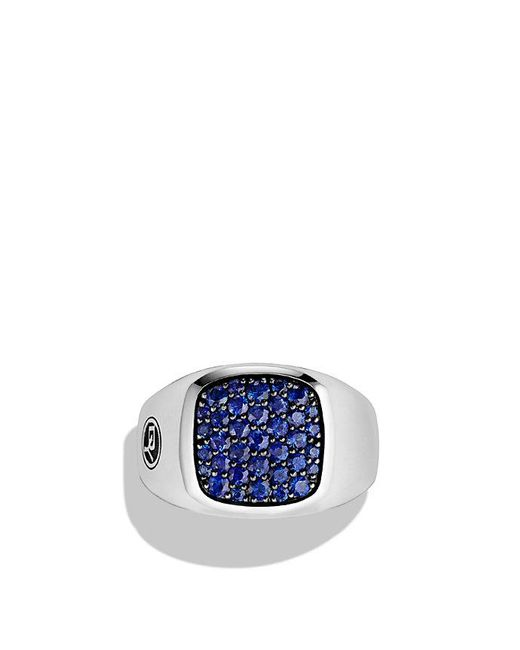 David Yurman | Exotic Stone Signet Ring With Blue Sapphire for Men | Lyst