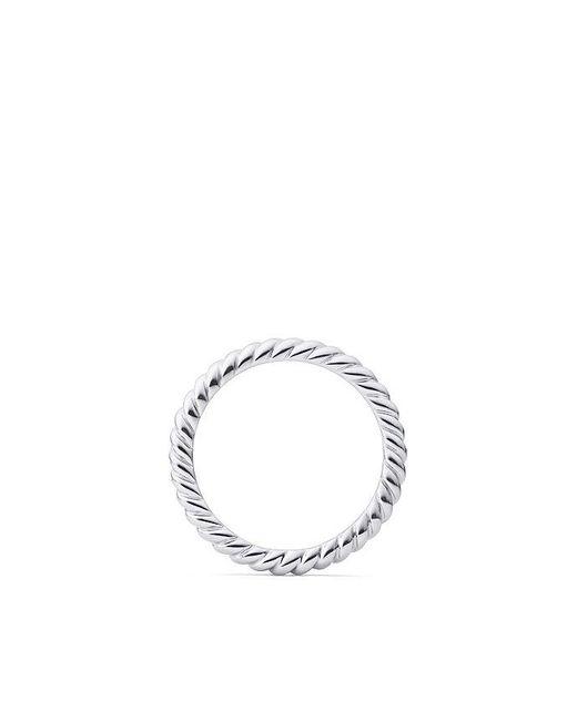 David Yurman - Metallic Dy Unity Cable Wedding Band In Platinum, 2.45mm - Lyst