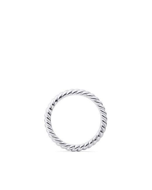 David Yurman | Metallic Dy Unity Cable Wedding Band In Platinum, 2.45mm | Lyst