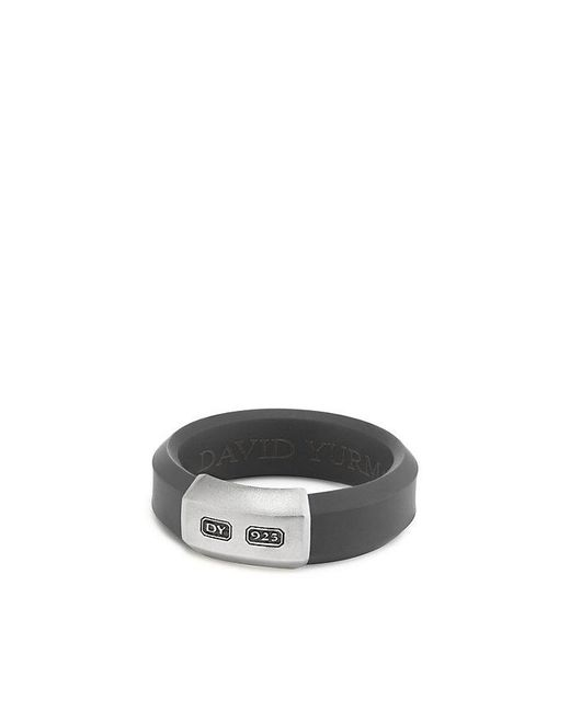 David Yurman | Gray Hex Band Ring In Grey, 7mm for Men | Lyst