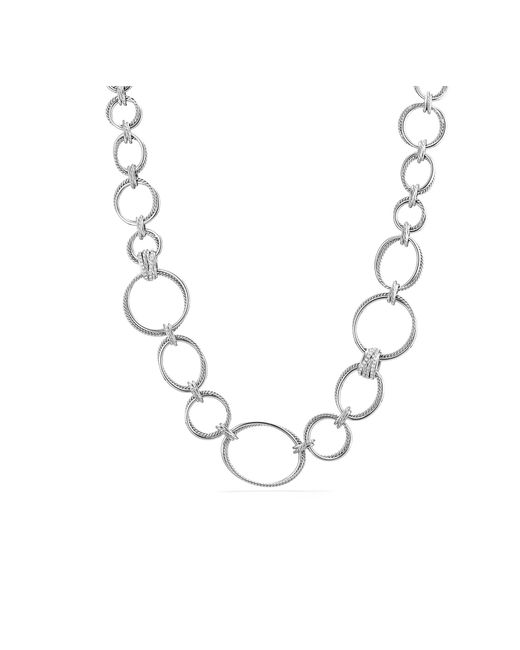 David Yurman - Metallic Crossover Convertible Statement Necklace With Diamonds - Lyst