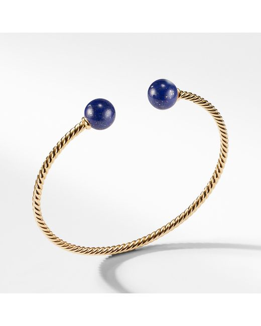 David Yurman - Metallic Solari Bead Bracelet With Lapis Lazuli In 18k Gold - Lyst
