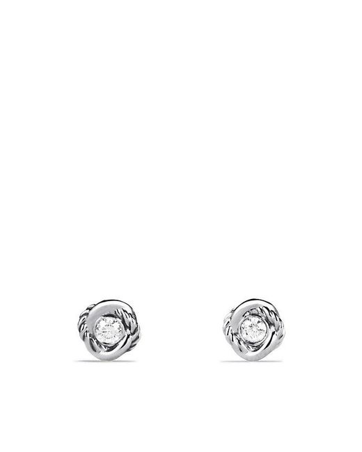 David Yurman | Metallic Infinity Earrings With Diamonds | Lyst