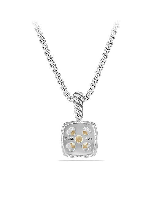 David Yurman - Metallic Petite Albion® Pendant Necklace With Diamonds And 18k Gold - Lyst
