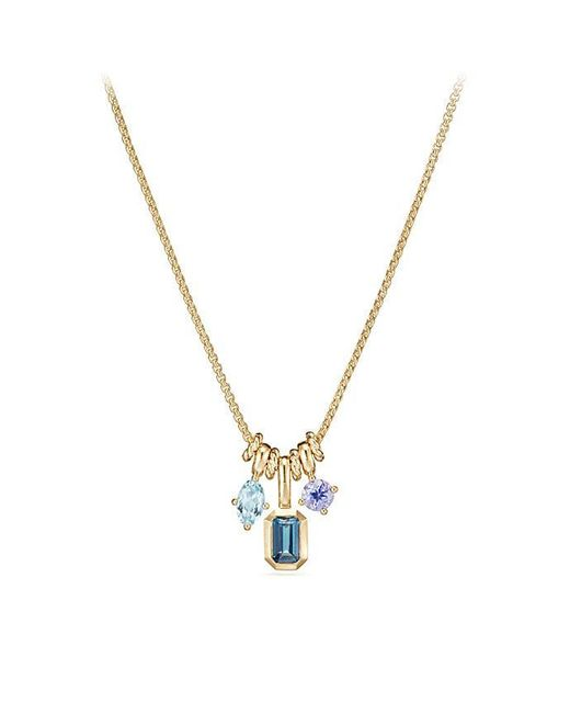 David Yurman - Multicolor Novella Pendant Necklace With Hampton Blue Topaz, Aquamarine, And Tanzanite - Lyst