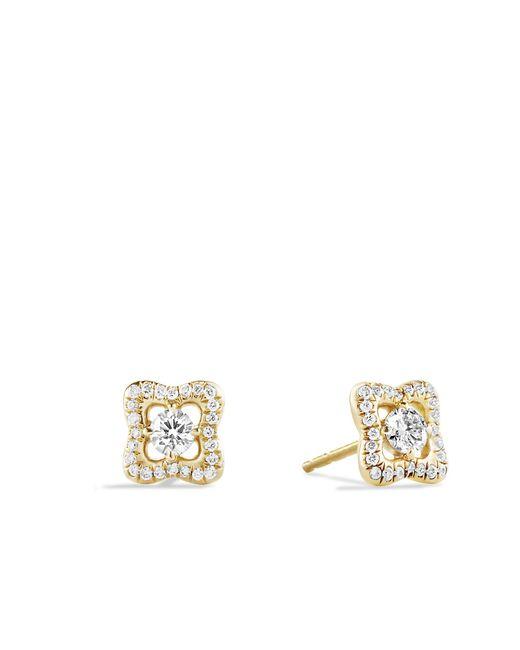 David Yurman - Metallic Venetian Quatrefoil Earrings With Diamonds In 18k Rose Gold - Lyst