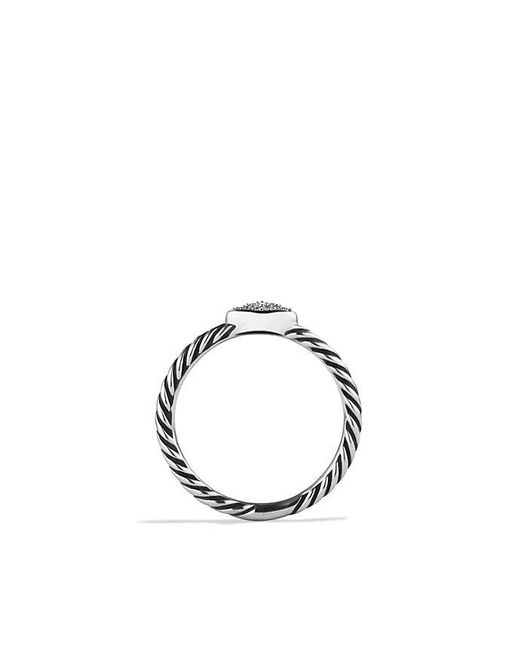 David Yurman | Metallic Quatrefoil Ring With Diamonds | Lyst
