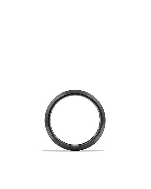 David Yurman | Streamline Beveled Edge Band Ring In Black Titanium, 6.5mm | Lyst