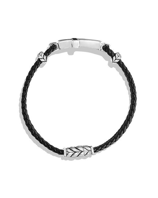 David Yurman | Exotic Stone Cross Station Leather Bracelet With Black Onyx for Men | Lyst