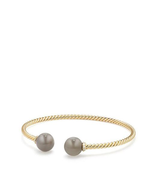 David Yurman | Metallic Solari Bead Bracelet With Grey Moonstone In 18k Gold | Lyst