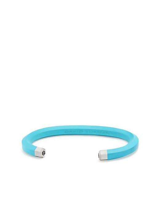 David Yurman - Blue Hex Cuff Bracelet In Teal, 7mm - Lyst