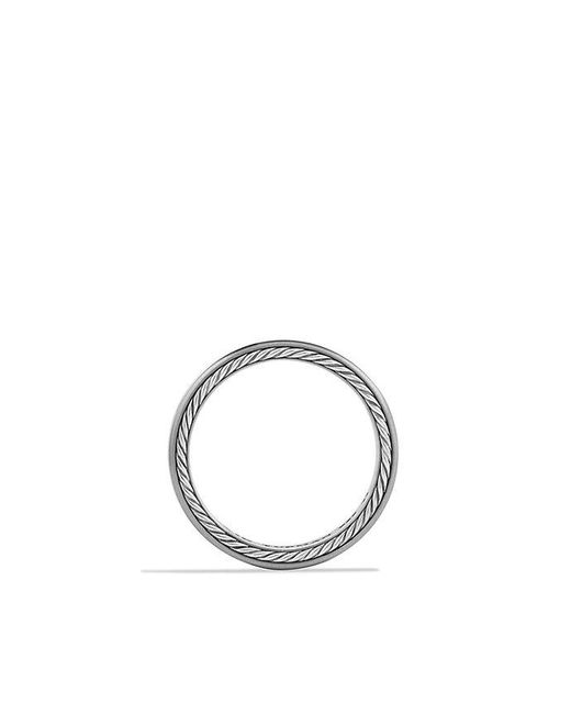 David Yurman | Metallic Streamline Narrow Band Ring With Gray Titanium, 6mm for Men | Lyst