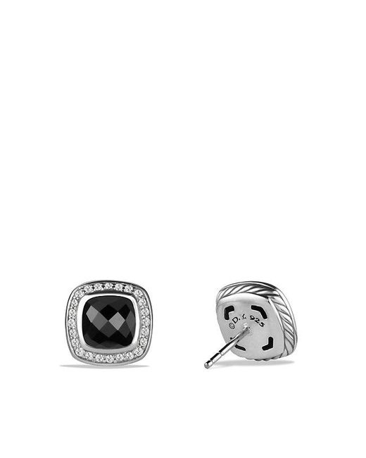 David Yurman - Albion® Earrings With Black Onyx And Diamonds, 7mm - Lyst